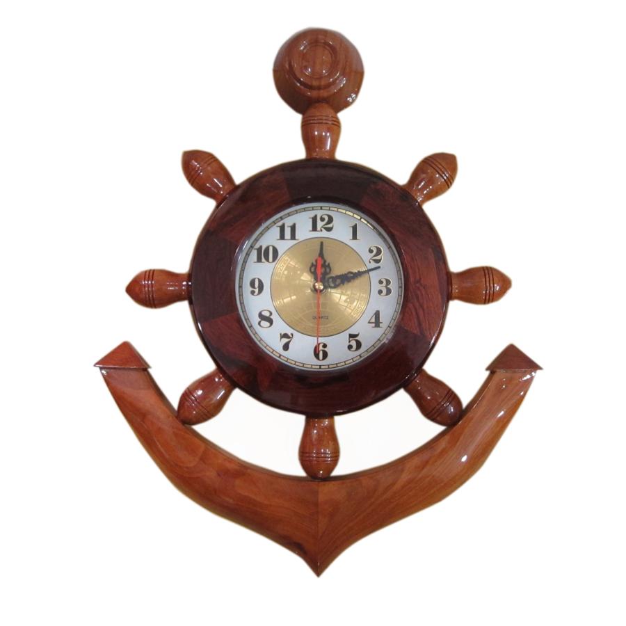 Mỏ neo tàu gỗ trang trí 50cm - có đồng hồ