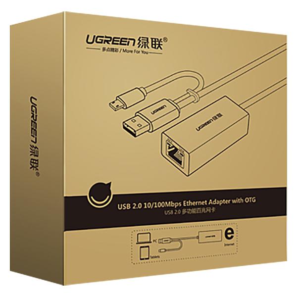 Cáp Chuyển Đổi Ugreen USB Sang RJ45 Type-C 30219 - Hàng Chính Hãng