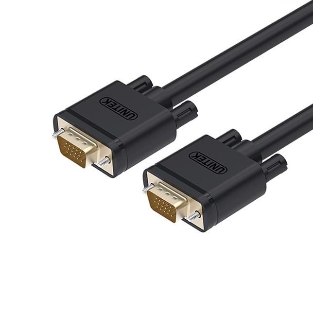 Cáp máy chiếu VGA dài 1.5m UNITEK Y-C503G - Hàng Chính Hãng