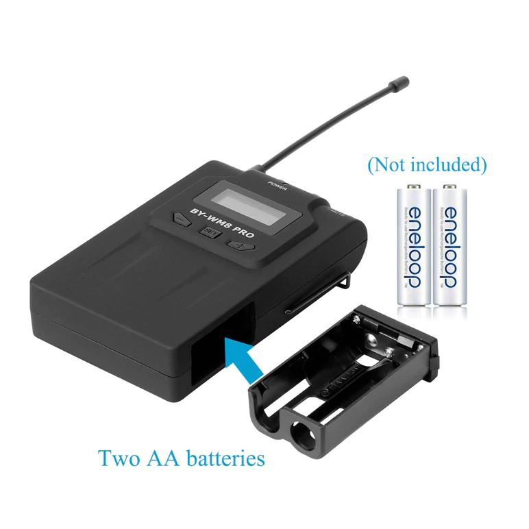 Micro Thu Âm Chuyên Nghiệp Không Dây Dành Cho Máy Ảnh Boya BY-WM8 Pro-K2 - Hàng Chính Hãng