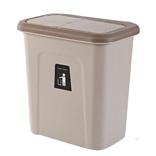 Thùng rác treo tủ bếp có nắp tiện dụng - Giao màu ngẫu nhiên