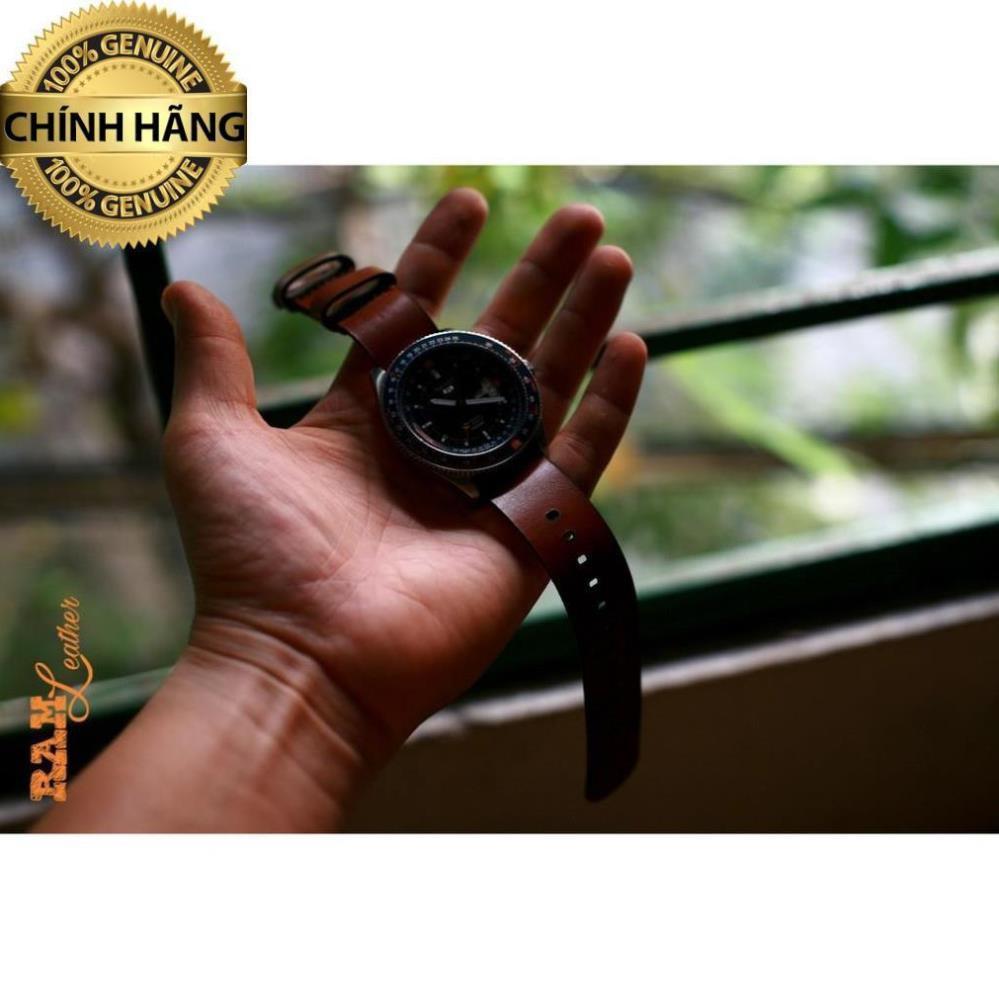 Dây đồng hồ da bò đơn (da bò thât) - RAM N2 - HÀNG CHÍNH HÃNG