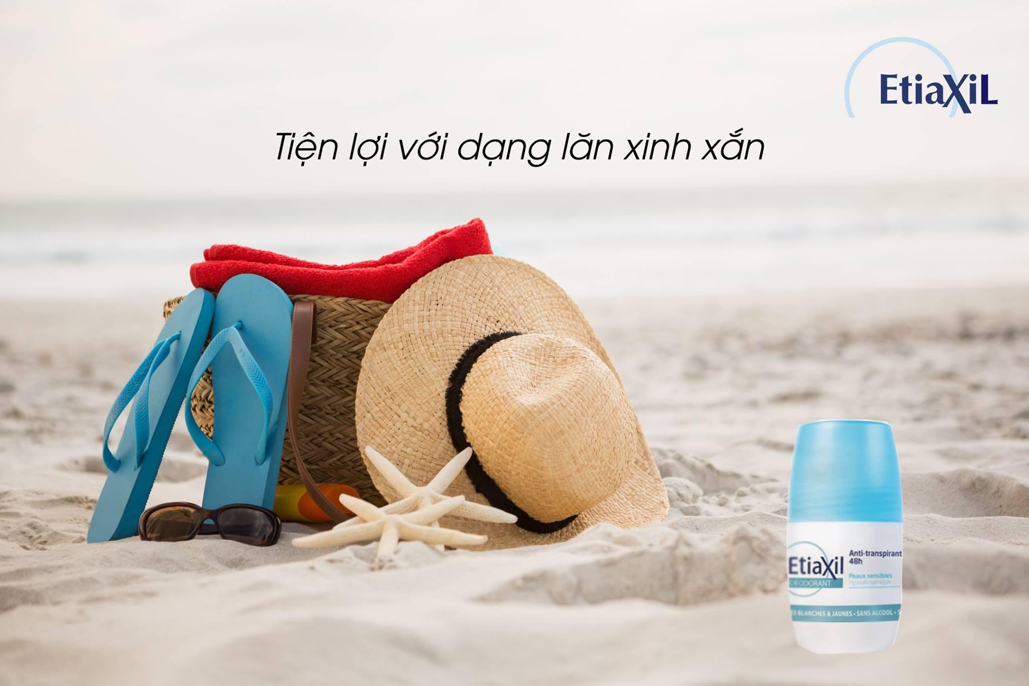 Lăn Khử Mùi Hàng Ngày Etiaxil Deodorant Anti Transpirant 48h 50ml + Tặng 1 Băng Đô Tai Mèo Xinh Xắn ( Màu Ngẫu Nhiên)