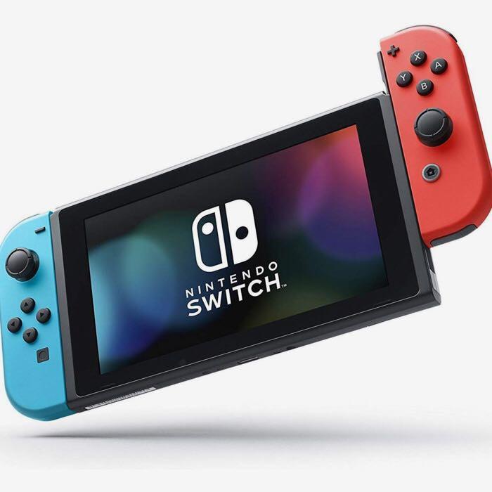 Máy Chơi Game Nintendo Switch Với Neon Blue Và Red Joy‑Con (Xanh Đỏ) Model Mới 2019 - Hàng Nhập Khẩu