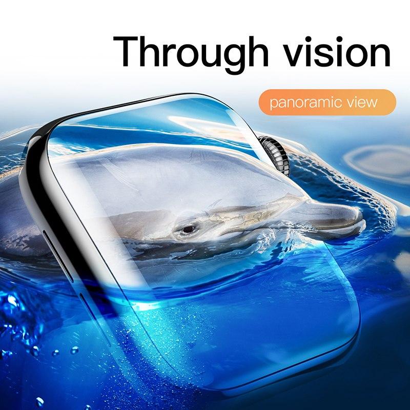 Miếng dán kính cường lực Full 3D BASEUS cho Apple Watch 38mm - Hàng chính hãng