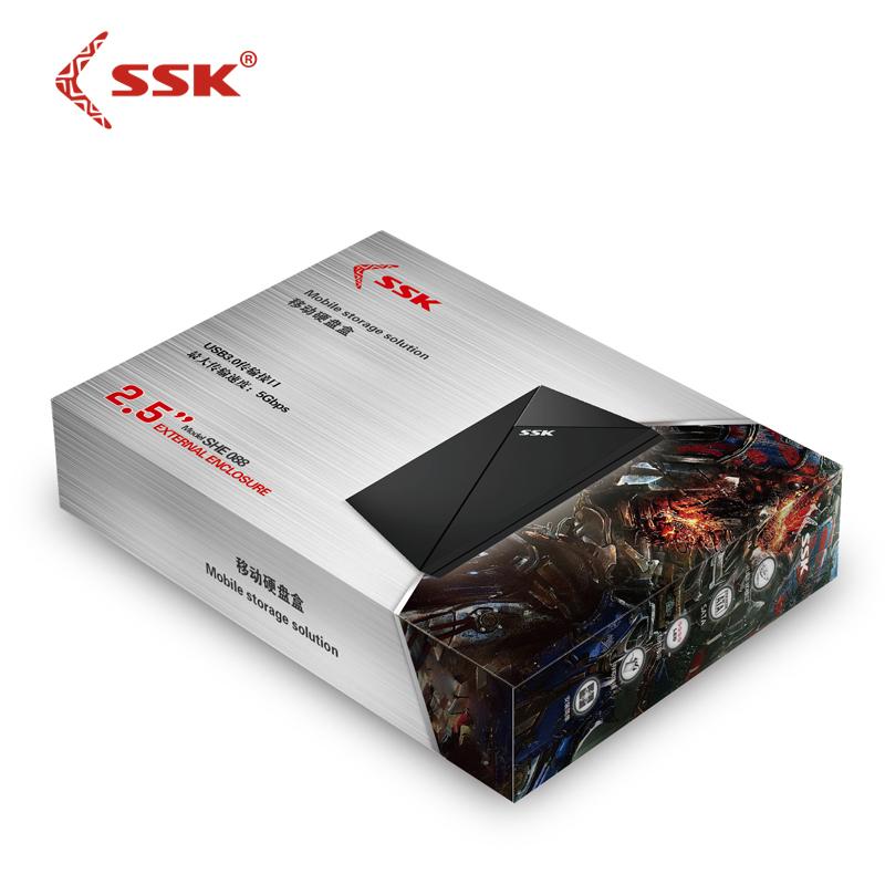 Hộp Đựng HDD Box Sata 2.5 USB 3.0 SSK SHE 088 AZONE - Hàng Nhập Khẩu