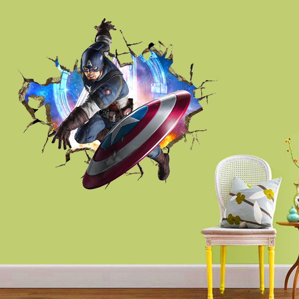 Decal dán tường siêu anh hùng 3D MS1