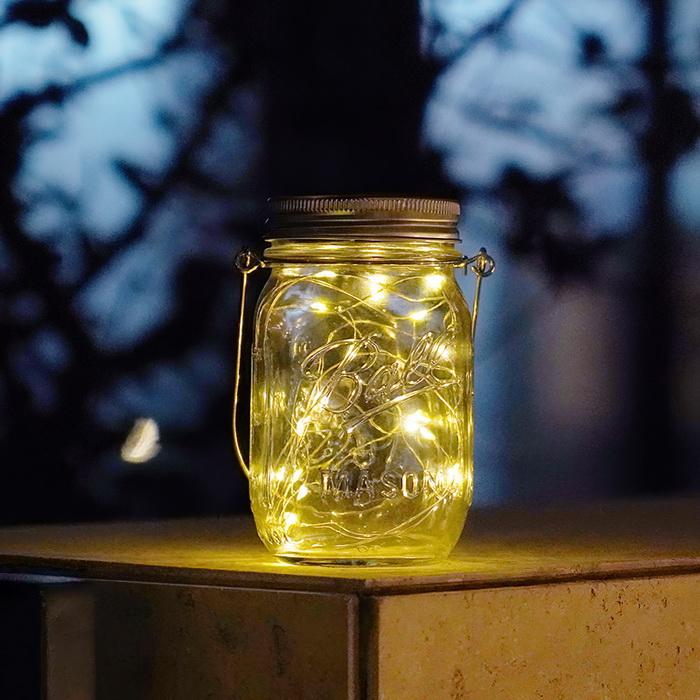 Lọ đèn phát sáng năng lượng mặt trời - Đèn màu vàng