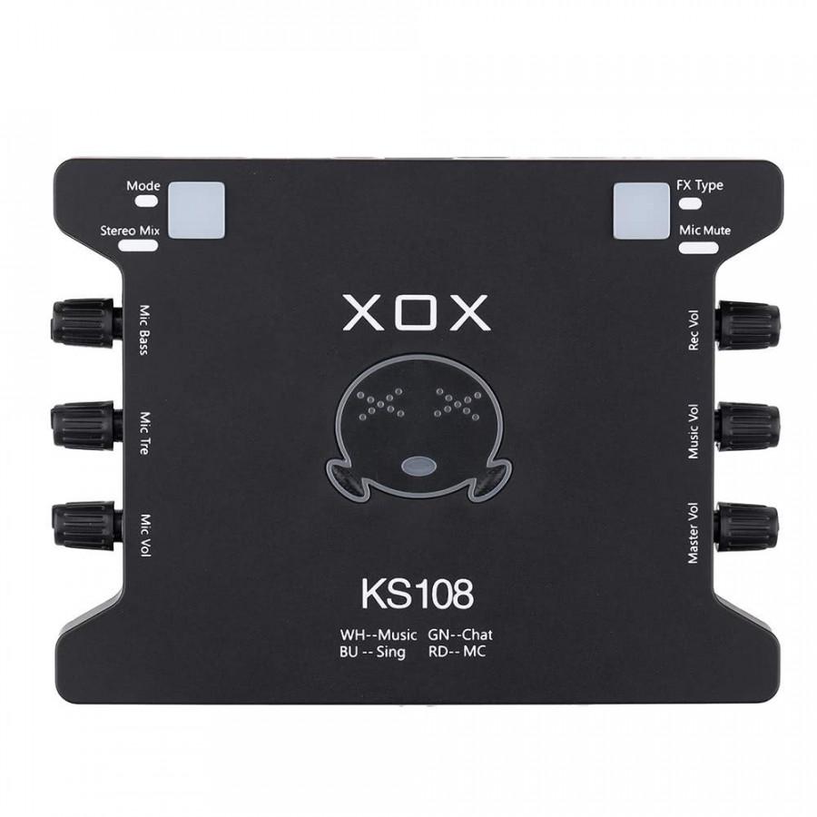 Card sound hát online cho máy tính XOX KS108 - Hàng chính hãng