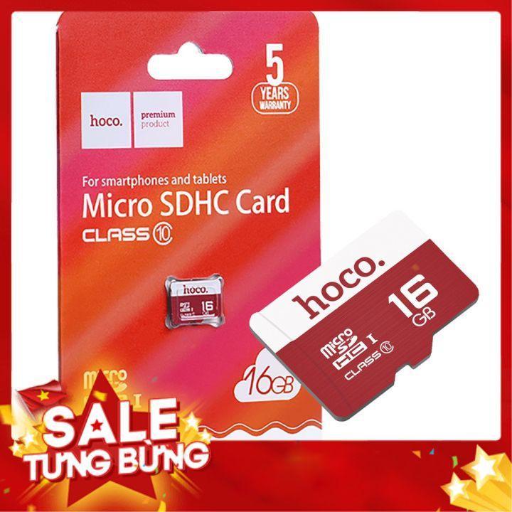 Thẻ nhớ Hoco 16Gb Class 10 tốc độ cao (hàng chính hãng)
