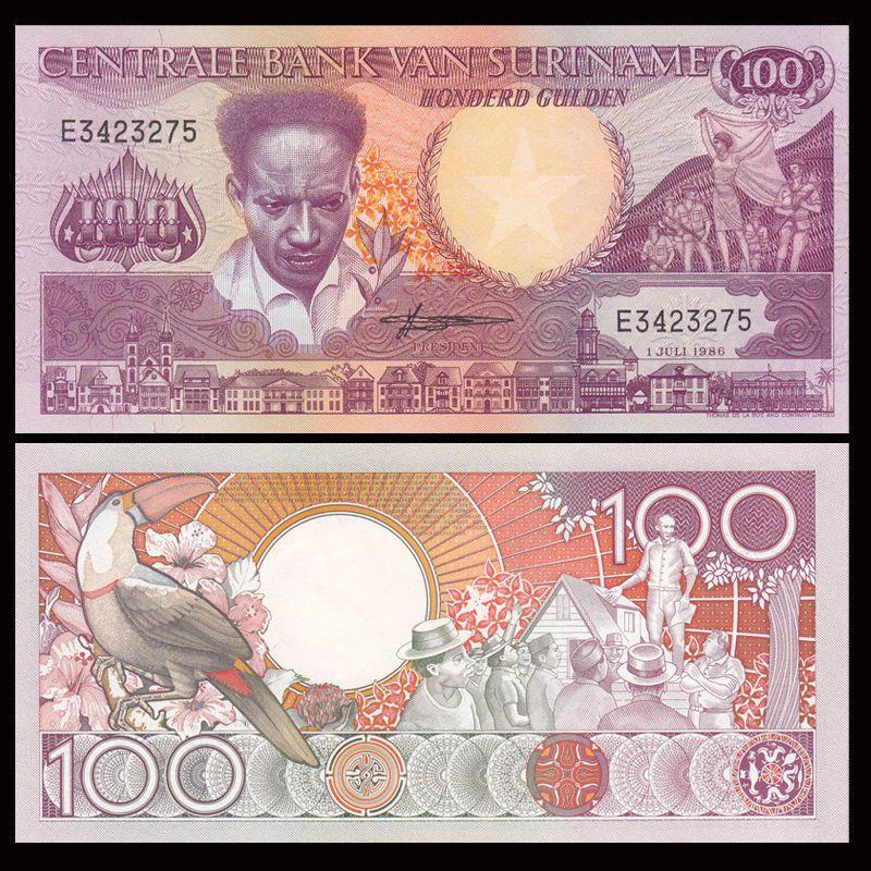 Tiền châu Mỹ, 100 gulden Suriname
