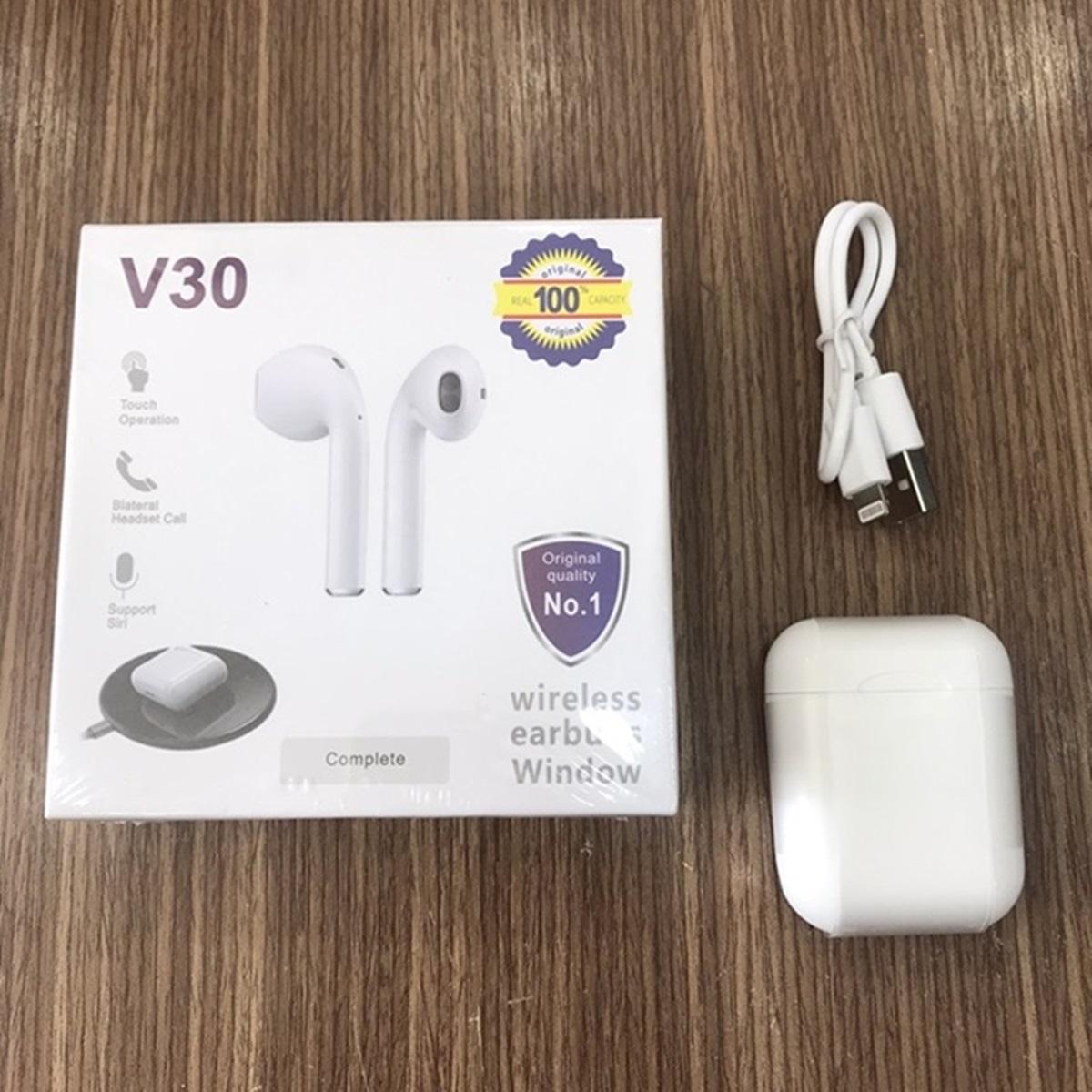 Tai nghe Bluetooth 5.0 cao cấp V30 - Hỗ trợ sạc không dây, Thiết kế thời  thượng,