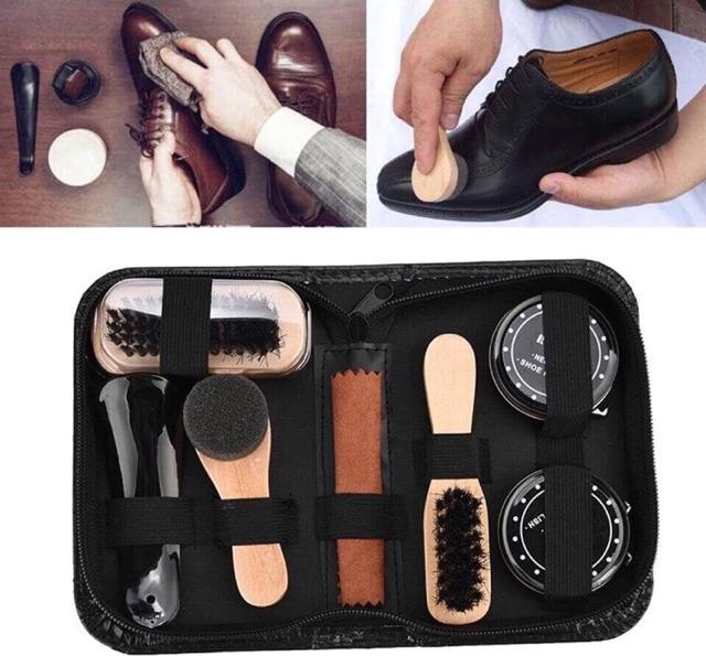 Bộ Dụng Cụ Đánh Giày Thiết Kế Nhỏ Gọn Làm Sạch Giày Hiệu Quả