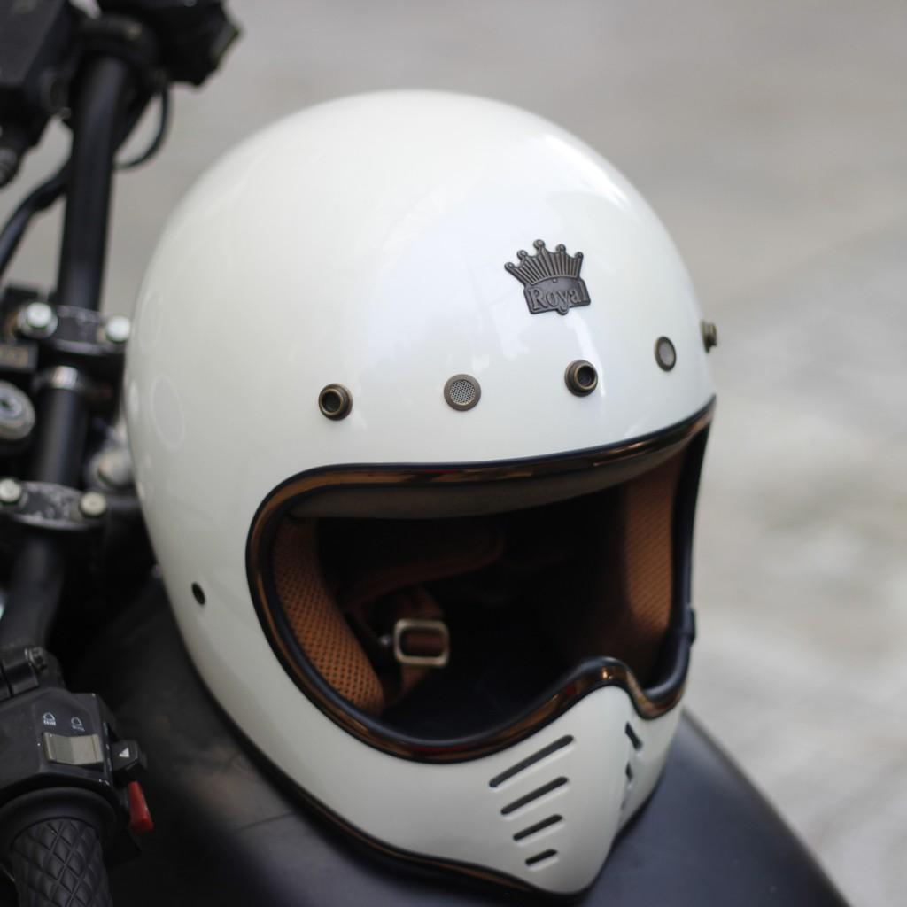 Nón bảo hiểm fullface ROYAL H1 trắng bóng