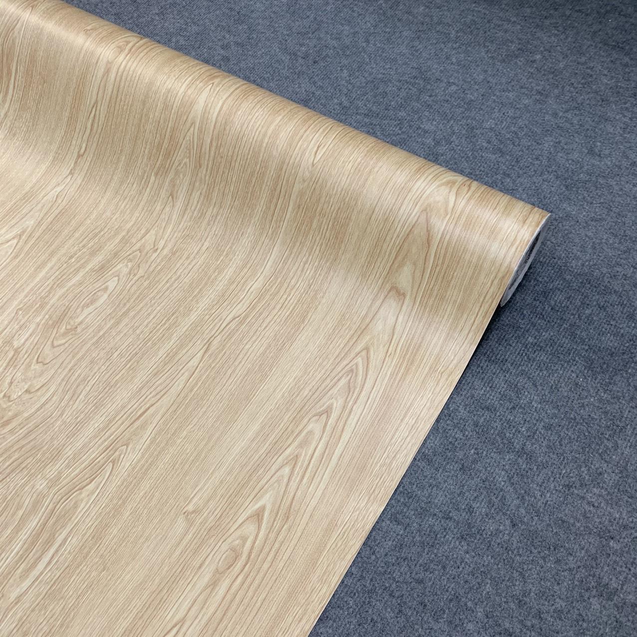 Decal gỗ màu kem - Giấy dán tường bàn tủ có sẵn keo ( khổ 1,2m - Mẫu G4 )