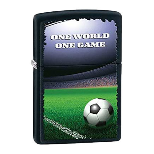 Bật Lửa Zippo 28301 - Bật Lửa Zippo Football In Stadium Black Matte