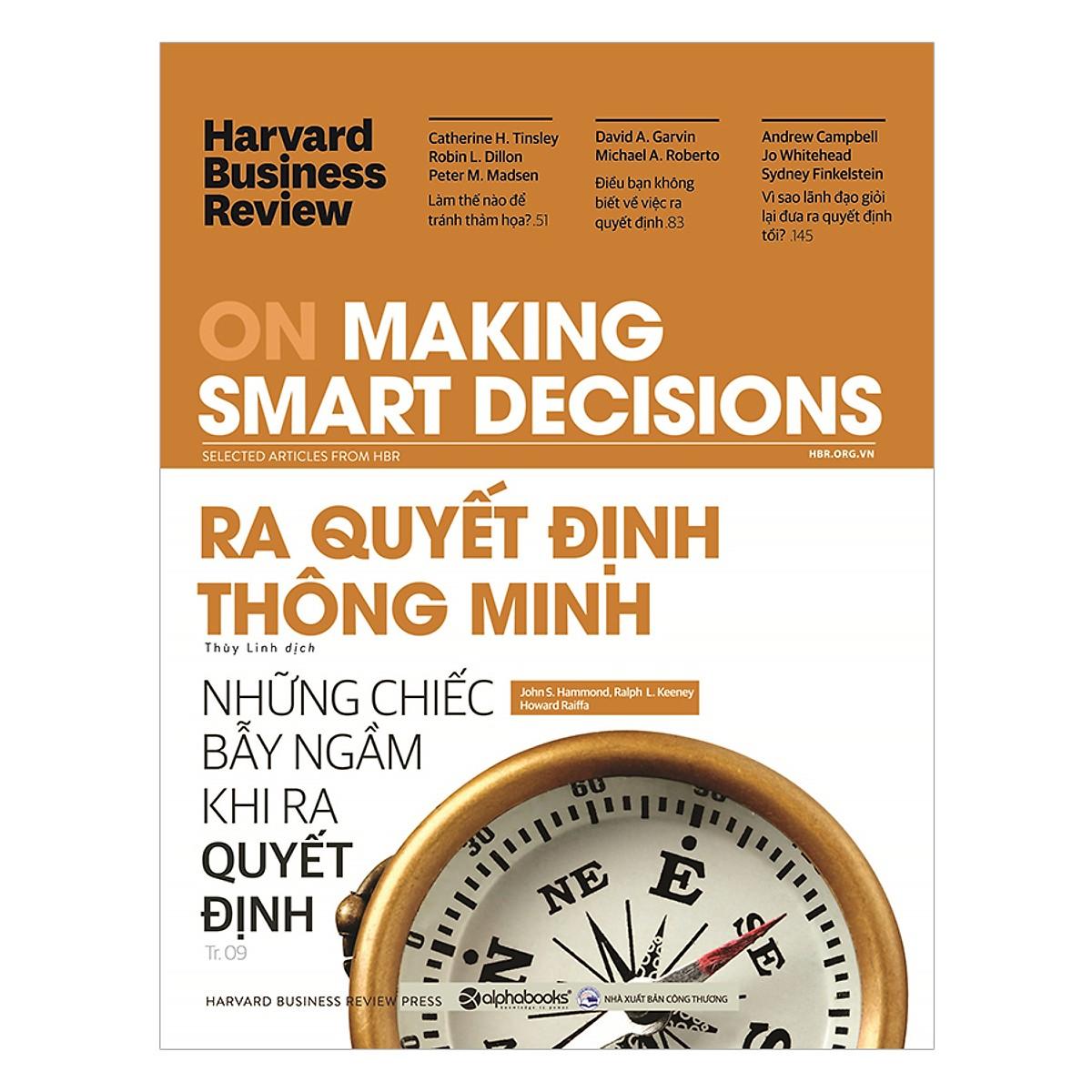 HBR On Making Smart Decisions - Ra Quyết Định Thông Minh Tặng BookMark Romantic
