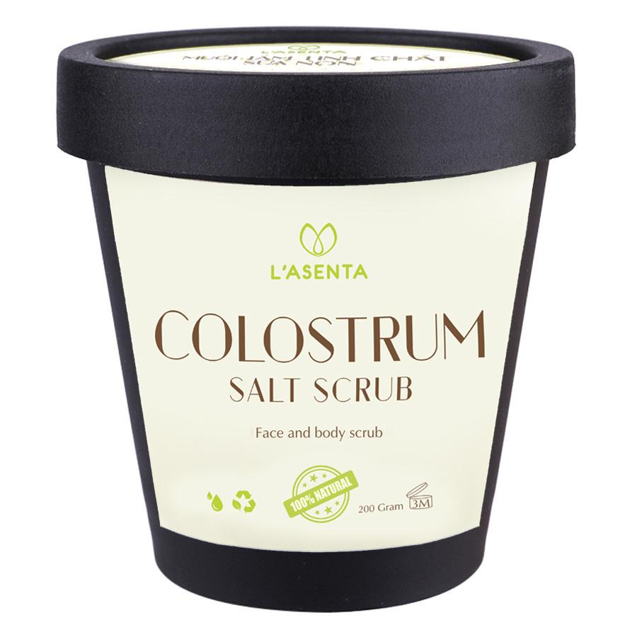 Muối Tắm Tinh Chất Sữa Non L'asenta  Colostrum Salt Scrub (200g)