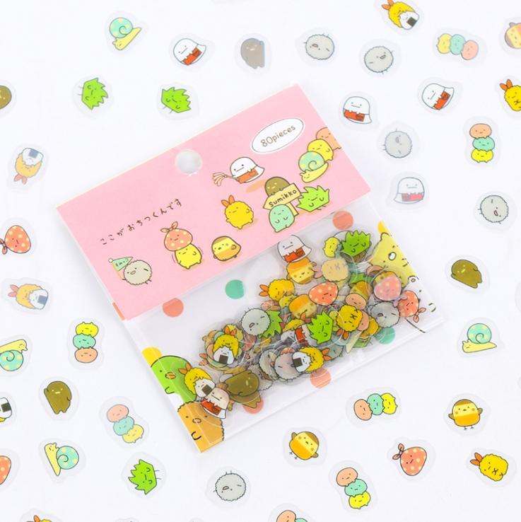 Sticker dán trang trí (80 miếng dán) các loại