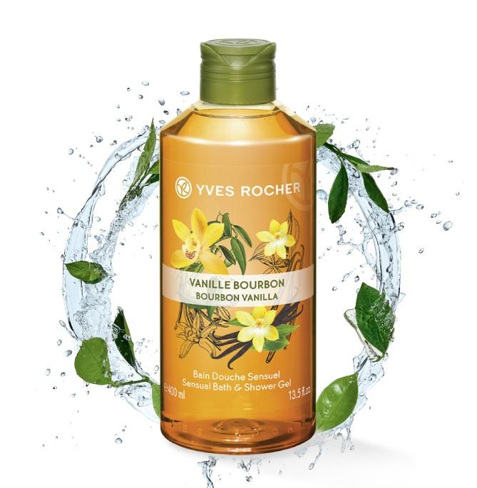 Gel Tắm Hương Vani Yves Rocher Bourbon Vanilla Sensual Bath & Shower Gel 400ml