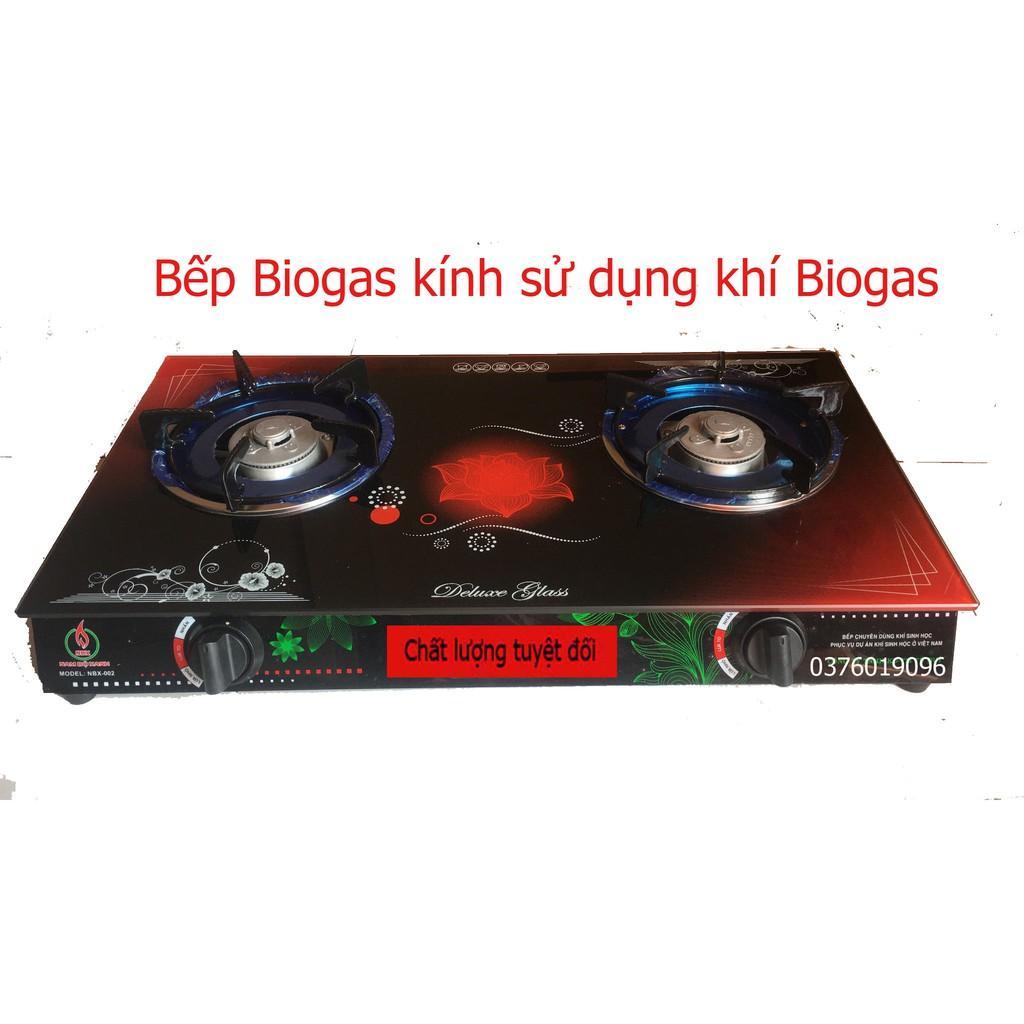 Bếp Biogas kính cường lực chịu nhiệt sử dụng khi sinh học Bioga Nam Bộ Xanh