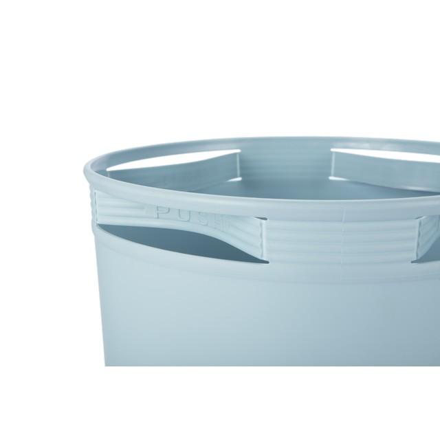 Thùng Rác Nhựa Tròn Cao Cấp 5 Lít Inochi Nhật Bản  (184 x 184 x 234 mm) - Giao màu ngẫu nhiên