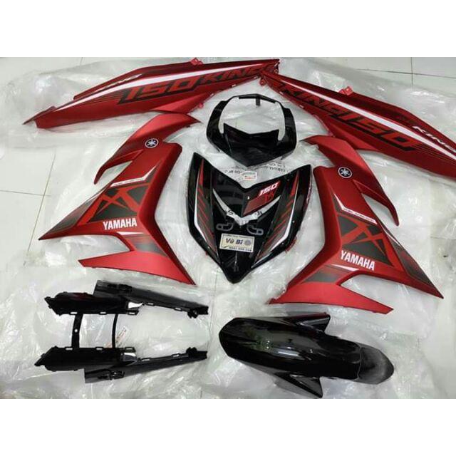 Tem rời nhám dành cho xe Exciter 150 MX đỏ nhám (bộ)