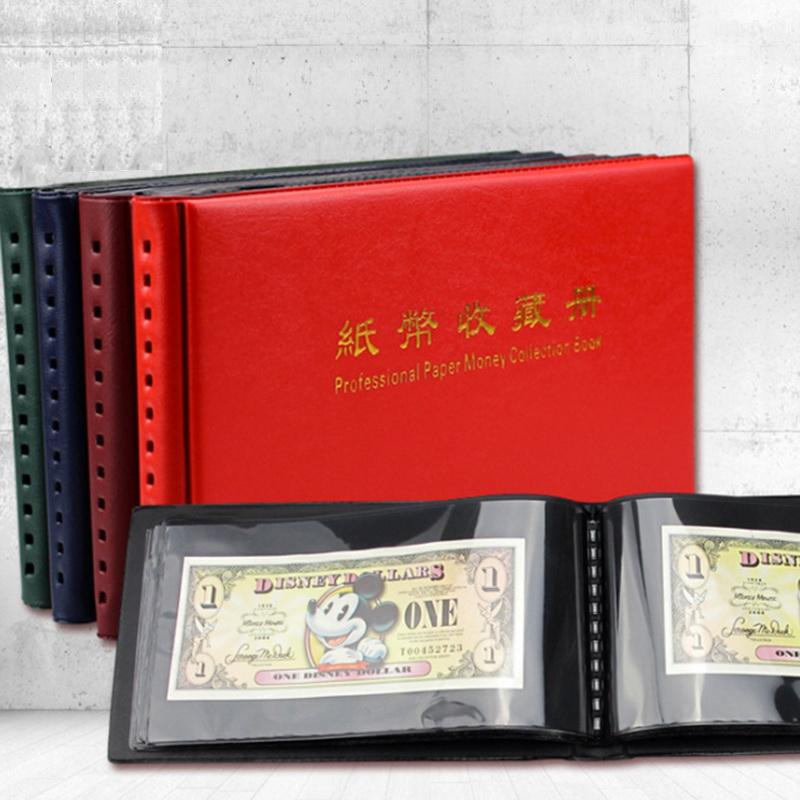 Album đựng tiền giấy Mini PASA nền đen 20 phơi 1 ngăn đựng được 40 tờ tiền [màu ngẫu nhiên]
