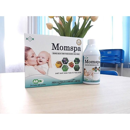 Dung dịch tắm thảo dược sau sinh Momspa (set 3 chai) phục hồi cơ thể sau sanh