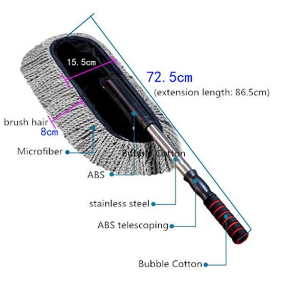 Bộ chổi lau xe sợi dầu cỡ lớn và chổi lau nội thất