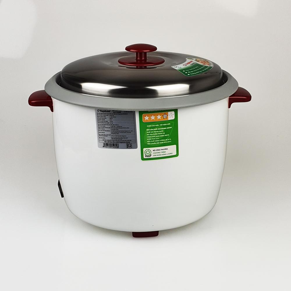 Nồi cơm điện 2.2lit có chống dính Nagakawaa, nấu tầm 1.5kg gạo, công suất 900W, mẫu ngẫu nhiên-Hàng chính hãng