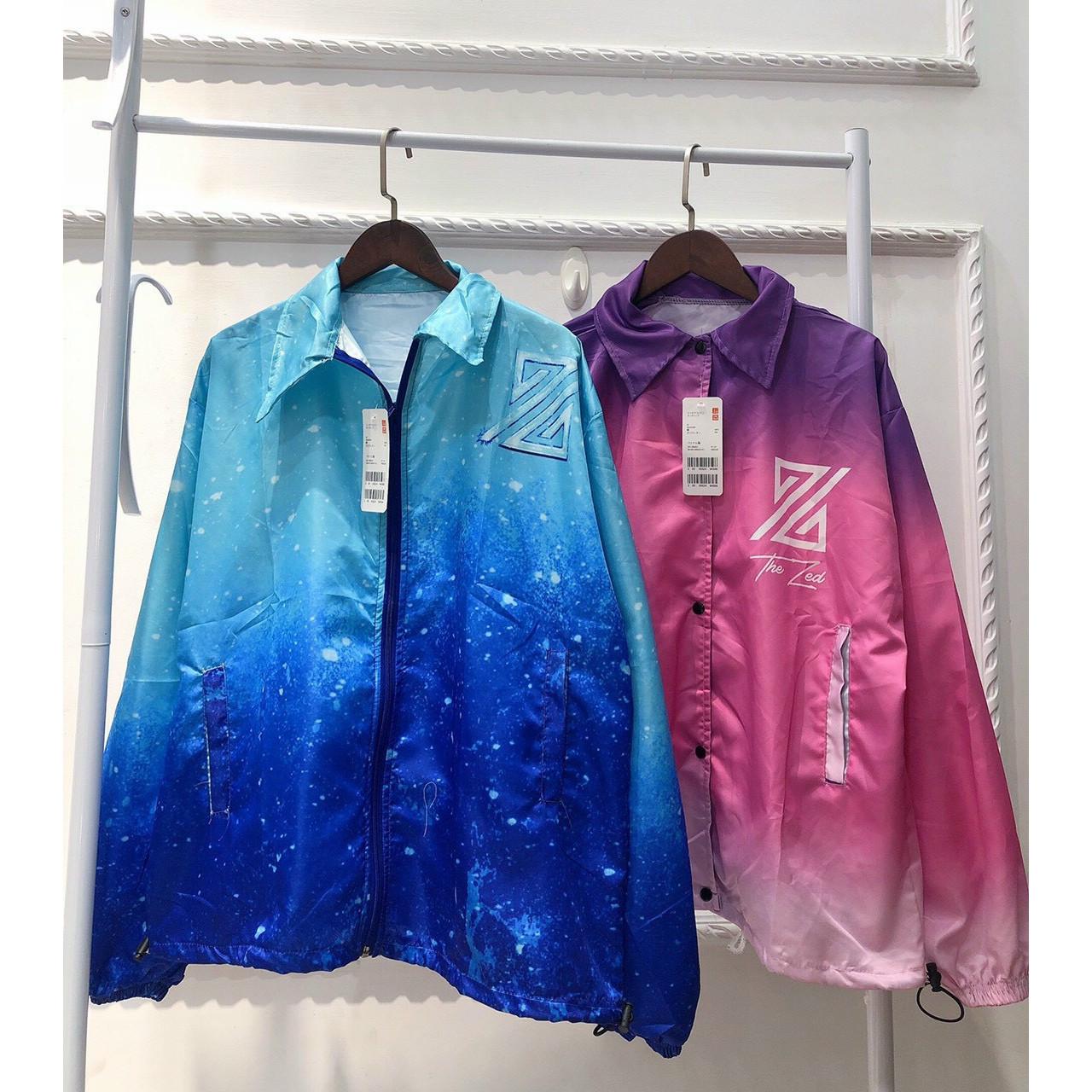 Áo khoác dù loang màu vải mero đẹp không phai màu