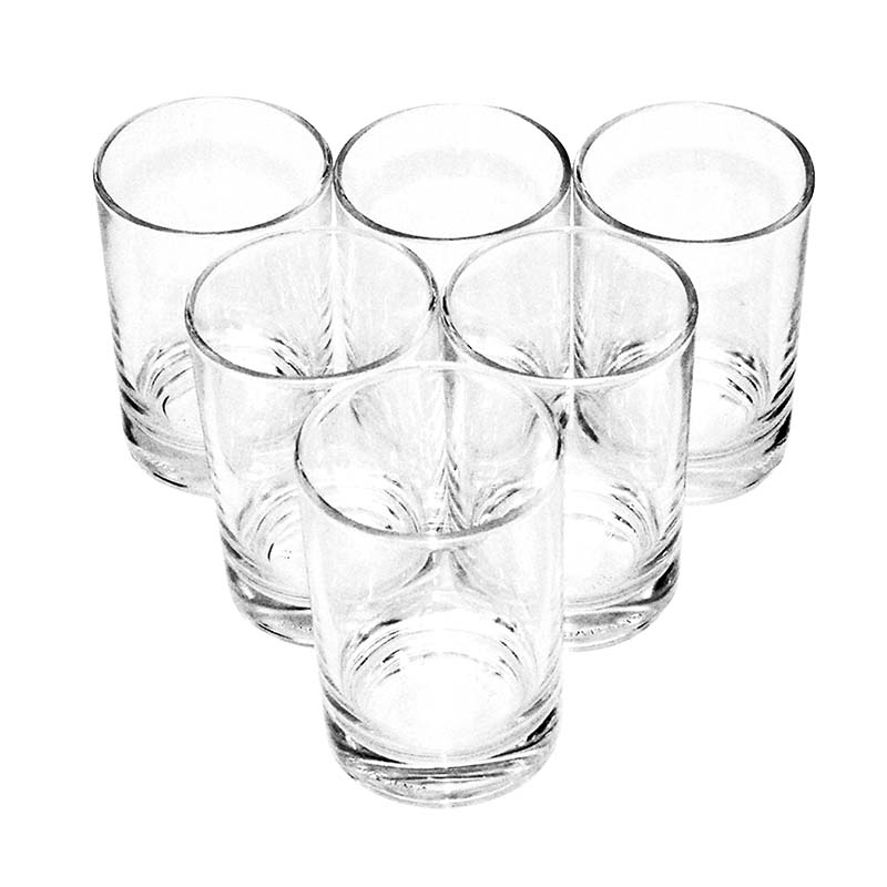 Bộ ly 6 cái Union Glass 381  Ly lùn  170ml  không ngã màu,  sản xuất Thái Lan