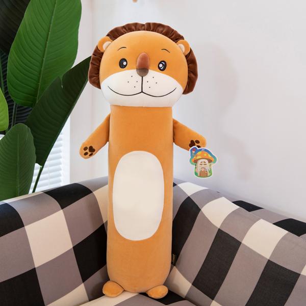 Gấu Bông Miniso Hình Con Sư Tử (65 Cm) G62 (Tặng 1 Móc Khóa Dây Da Pu Đính Đá Lấp Lánh)