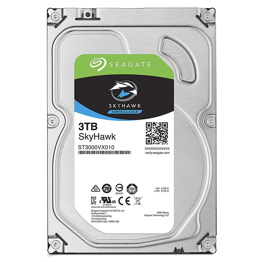 Ổ Cứng HDD Seagate SkyHawk ST3000VX010 Sata III 3TB/64MB/5900rpm - Hàng Chính Hãng