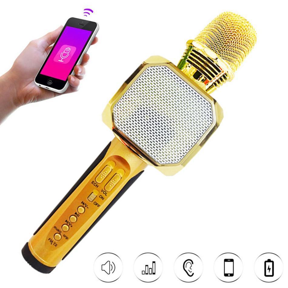Mic, loa hát karaoke mini cầm tay chất âm cải tiến ấm áp hơn, ăn giọng hơn