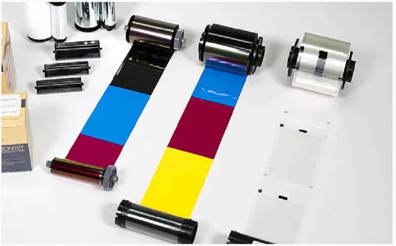 Ruy băng mực màu YMCKO máy in thẻ nhựa SOLID 310/510 series - 250 lần in/cuộn - In được 125 thẻ in màu 2 mặt - Màu in sắc nét - Công nghệ thẩm thấu thăng hoa cao cấp - Hàng chính hãng