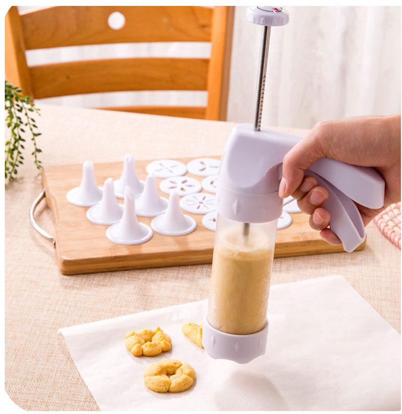Bộ Khuôn Nhấn Bánh Quy Cookies Press 12 Mặt 6 Đầu Trang Trí Bánh