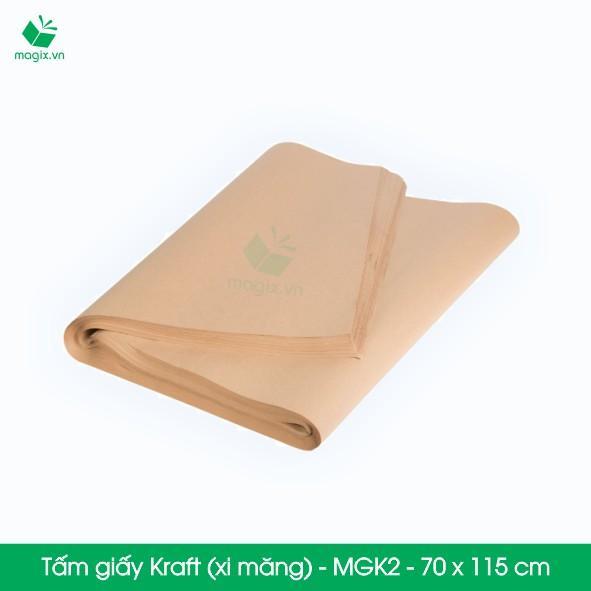 50 tấm giấy Kraft (xi măng) gói hàng - MGK2 - 70 x 115 cm