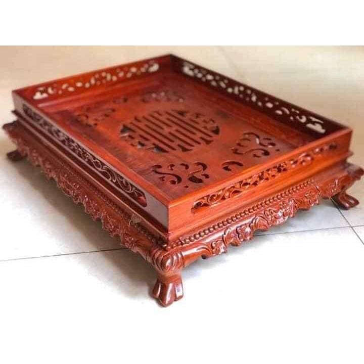 Khay trà đục rồng gỗ hương loại nhỏ hàng cao cấp