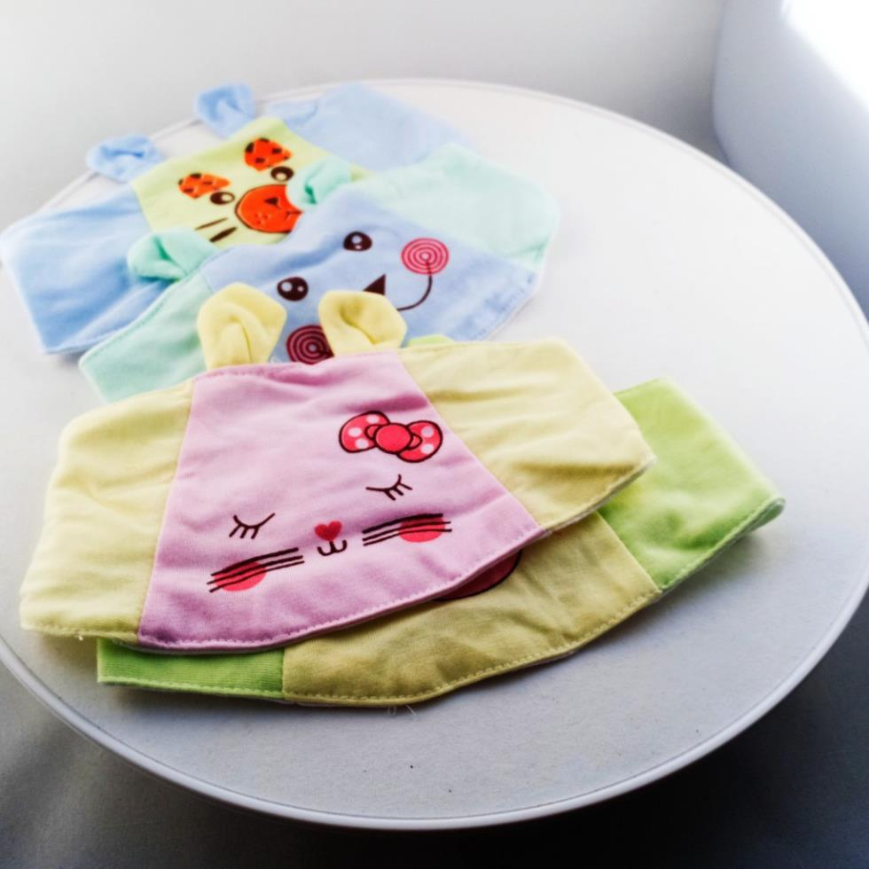 Che thóp sơ sinh cotton tai thỏ cho bé trai, bé gái dưới 6 tháng tuổi hình thú ngộ nghĩnh loại đẹp Châu Shop