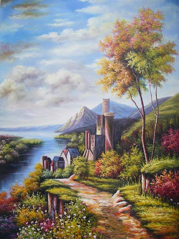 Tranh canvas phong cách sơn dầu - Phong cảnh Châu Âu - PC015