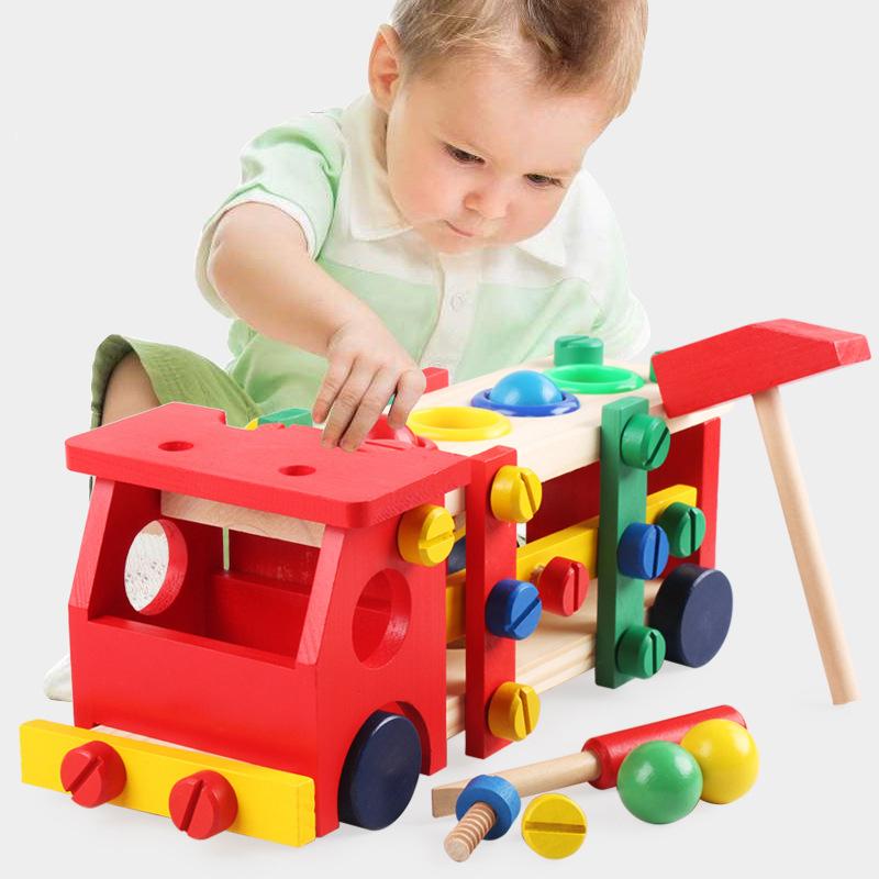 Đồ chơi lắp ghép ô tô kèm đập bóng cho bé luyện tập tay, mắt và sự kiên trì khi lắp ráp