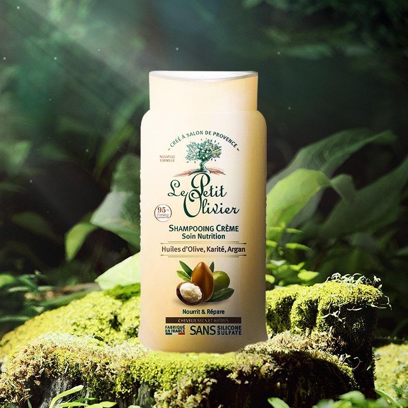 Bộ 3 sản phẩm phục hồi tóc hư tổn chiết xuất Dầu Argan, Bơ Hạt Mỡ, Dầu Olive Le petit Olivier (Dầu gội, Dầu Xả và Xịt Dưỡng Tóc)