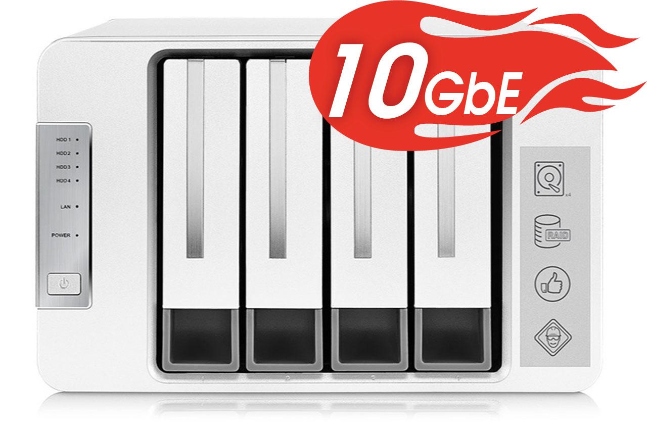 NAS TerraMaster F4-422, 10Gbps, Intel Quad-Core 1.5GHz, 4GB RAM, 670MB/s, 4 khay ổ cứng RAID 0,1,5,6,10, JBOD - Hàng chính hãng - Thiết bị lưu trữ qua mạng NAS | PhongVuPC.Com