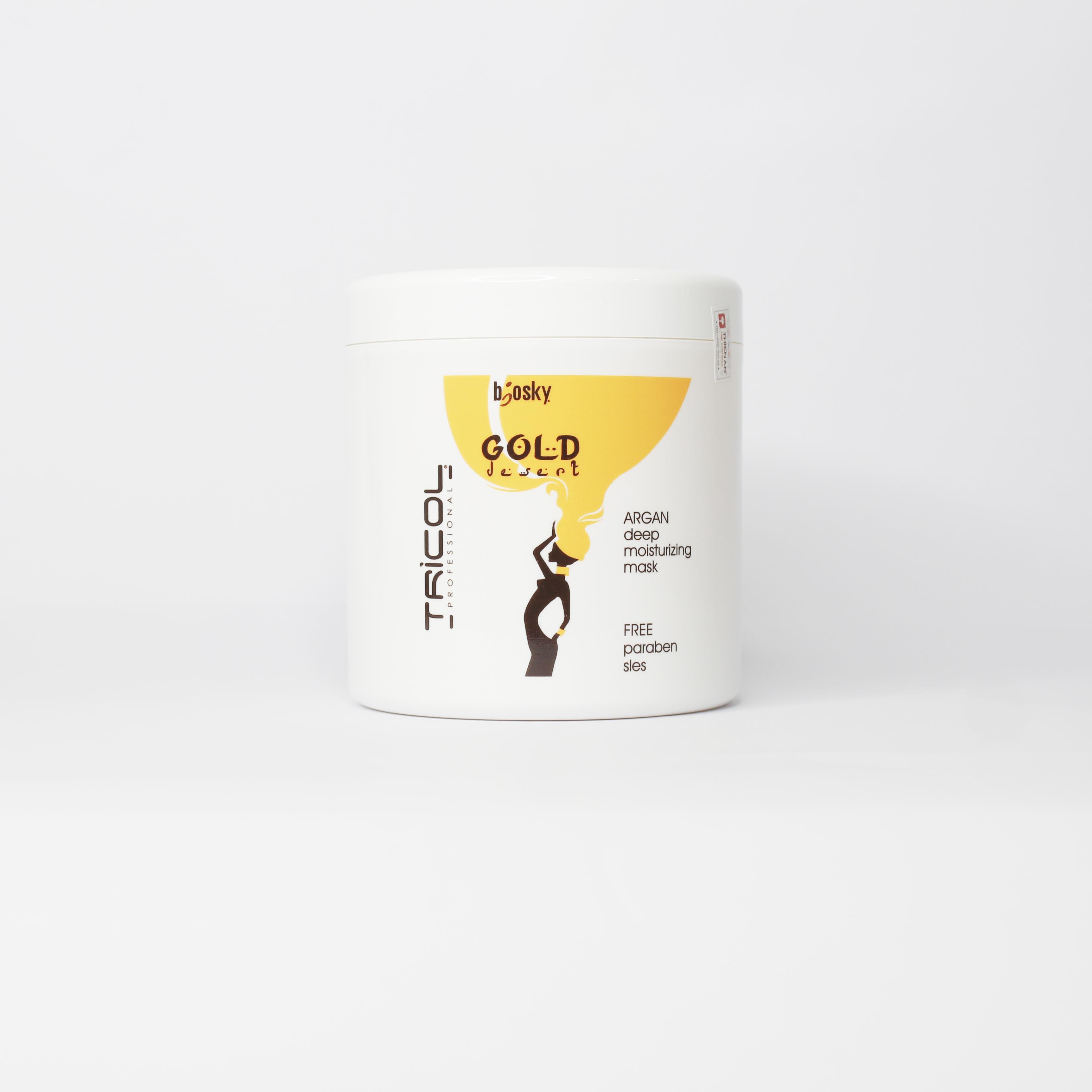 Tinh dầu dưỡng ẩm, phục hồi tóc Argan BIOSKY GOLD DESERT DEEP MOISTURIZING MASK 80 ml