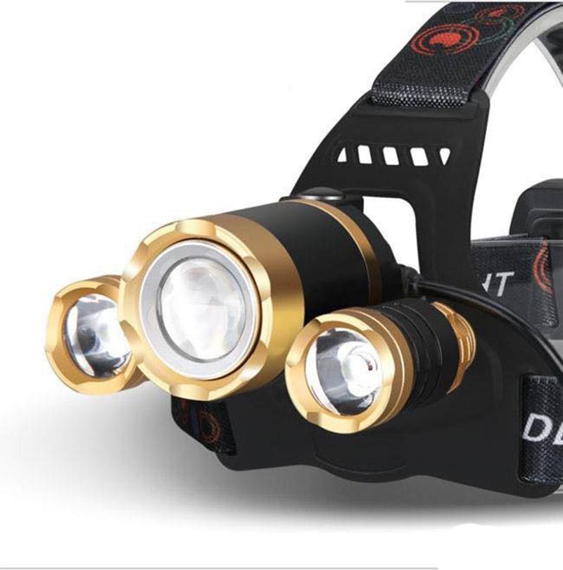 Đèn pin đeo đầu 3 bóng siêu sáng