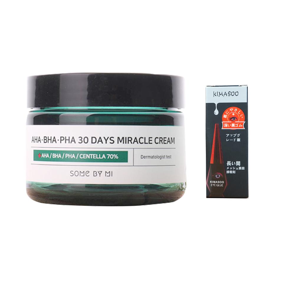 Kem Dưỡng Giảm Mụn Some By Mi AHA-BHA-PHA 30 Days Miracle Cream 50ml tặng kèm kích mí