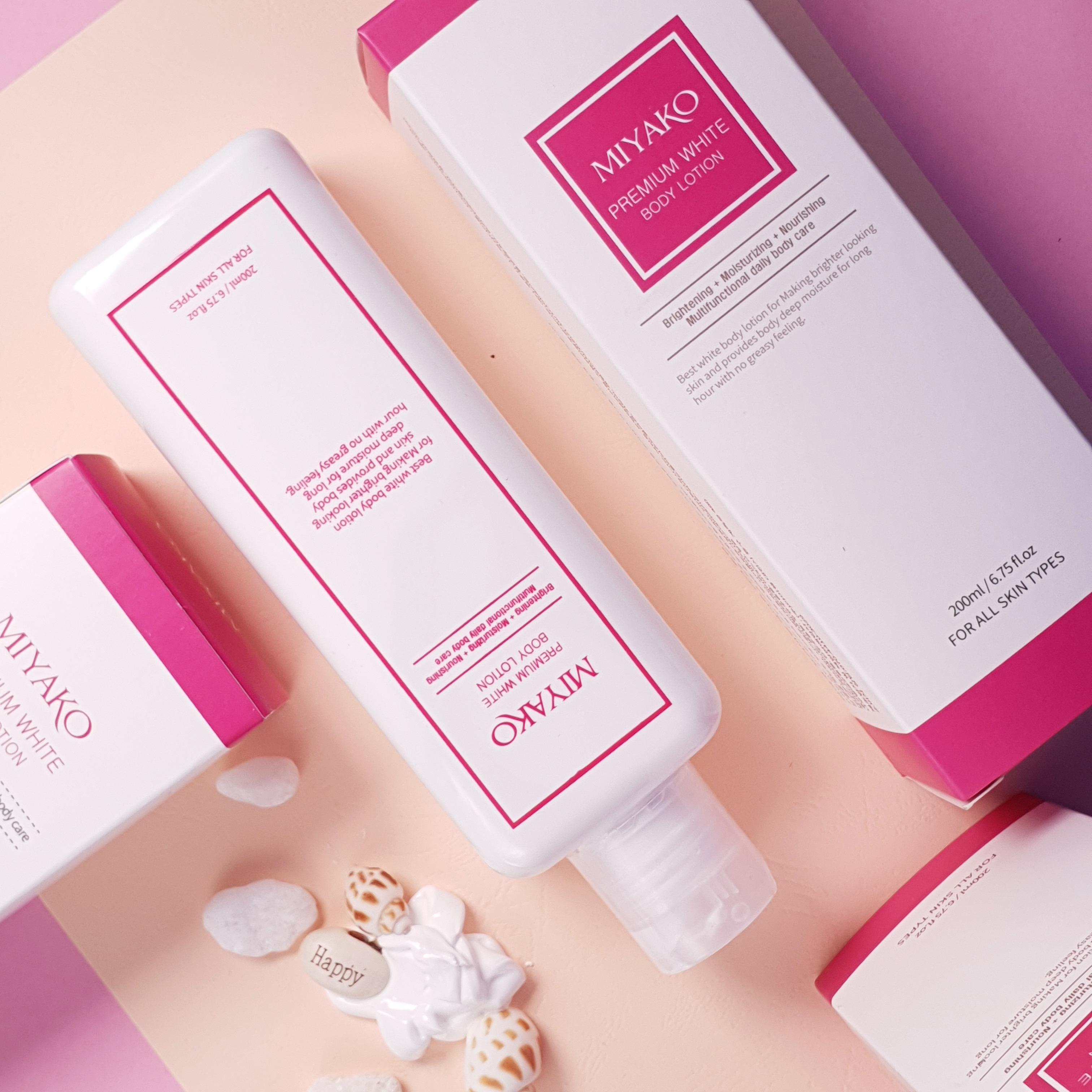 Kem Dưỡng Thể Trắng Da Toàn Thân 200ml – Miyako Premium White Body Lotion 200ml
