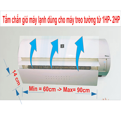 Tấm chắn gió máy lạnh, điều hòa treo tường bằng nhựa cao cấp